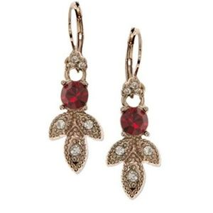 Marchesa Pave Colored Stone Drop Earrings